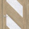 Межкомнатная дверь ПВХ S 52 орех темный рифленый 1