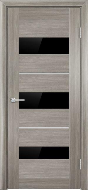Межкомнатная дверь ПВХ S 29 дуб дымчатый 1