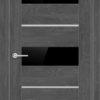 Межкомнатная дверь ПВХ S 46 орех темный рифленый 2
