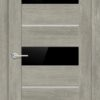 Межкомнатная дверь ПВХ S 26 орех темный рифленый 1