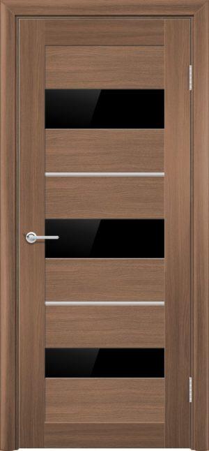 Межкомнатная дверь ПВХ S 29 орех королевский 1