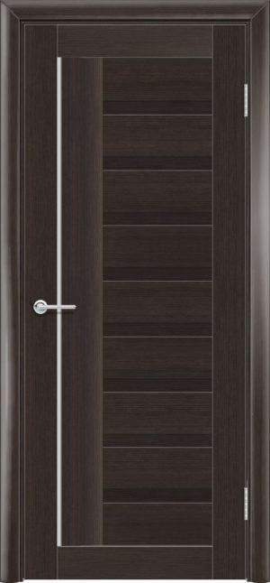 Межкомнатная дверь ПВХ S 3 орех темный рифленый 3