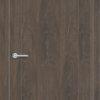Межкомнатная дверь ПВХ S 13 орех темный рифленый 2