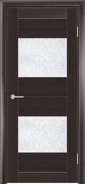 Межкомнатная дверь ПВХ S 33 орех темный рифленый 3
