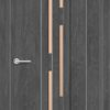Межкомнатная дверь ПВХ S 25 орех темный рифленый 1