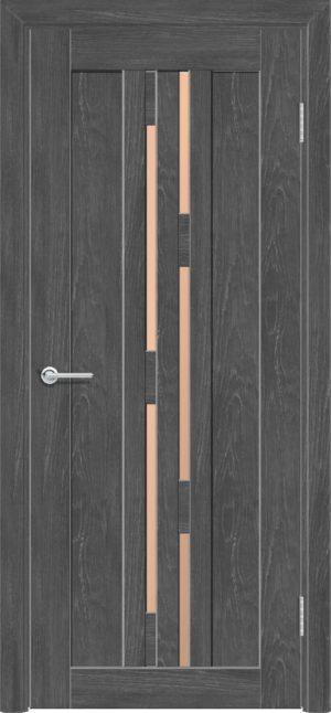 Межкомнатная дверь ПВХ S 37 дуб графит 3