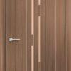 Межкомнатная дверь ПВХ S 19 орех темный рифленый 2