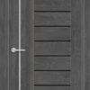 Межкомнатная дверь ПВХ S 38 дуб графит 2