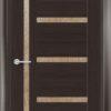 Межкомнатная дверь ПВХ S 39 орех темный рифленый 2