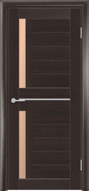 Межкомнатная дверь ПВХ S 4 орех темный рифленый 3