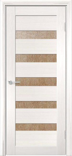 Межкомнатная дверь ПВХ S 40 лиственница беленая 3