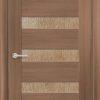 Межкомнатная дверь ПВХ S 48 орех темный рифленый 2