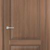 Межкомнатная дверь ПВХ S 15 орех темный рифленый 2