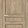 Межкомнатная дверь ПВХ S 42 орех темный рифленый 1