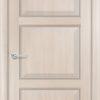 Межкомнатная дверь ПВХ S 22 орех темный рифленый 2