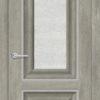 Межкомнатная дверь ПВХ S 18 орех темный рифленый 1