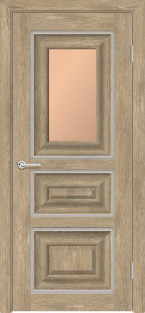 Межкомнатная дверь ПВХ S 46 дуб шале 3