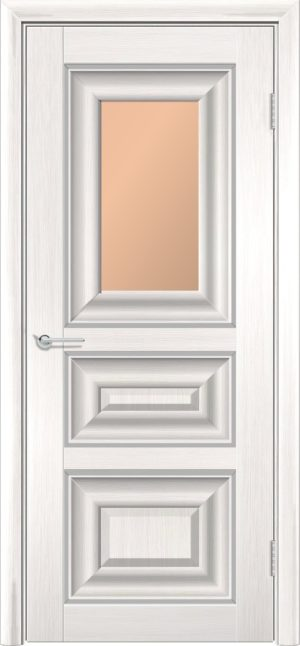 Межкомнатная дверь ПВХ S 46 лиственница беленая 1