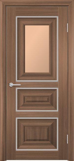 Межкомнатная дверь ПВХ S 46 орех королевский 3