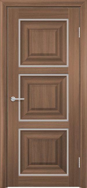 Межкомнатная дверь ПВХ S 47 орех королевский 1