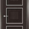 Межкомнатная дверь ПВХ S 47 орех темный рифленый 1