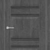 Межкомнатная дверь ПВХ S 40 орех темный рифленый 2