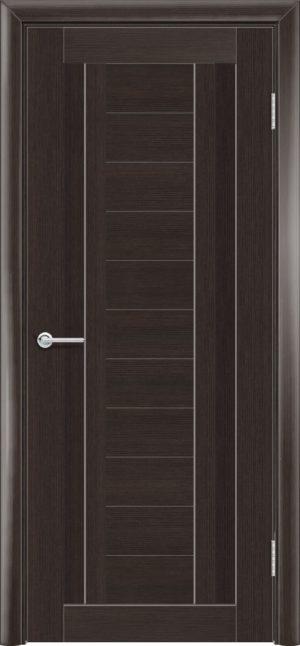Межкомнатная дверь ПВХ S 6 орех темный рифленый 3
