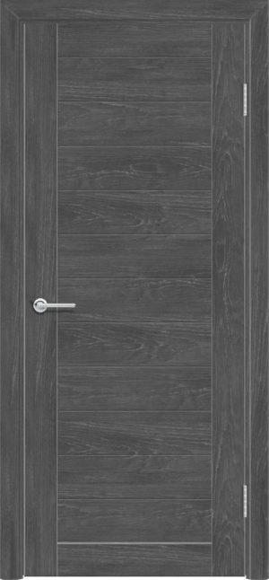 Межкомнатная дверь ПВХ S 7 дуб графит 1