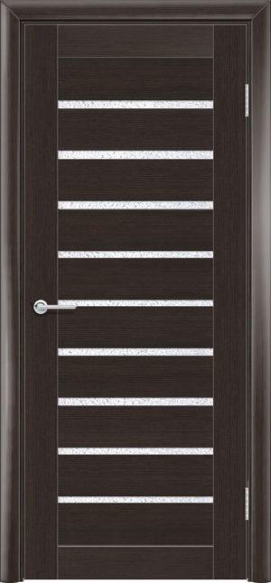 Межкомнатная дверь ПВХ S 8 орех темный рифленый 3