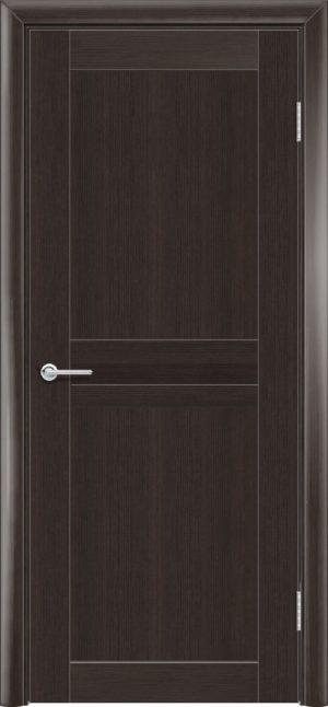 Межкомнатная дверь ПВХ S 9 орех темный рифленый 1