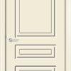 Межкомнатная дверь эмаль Б 15 бежевая патина серебро 1