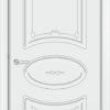 Межкомнатная дверь эмаль Б 9 бежевая патина серебро 1