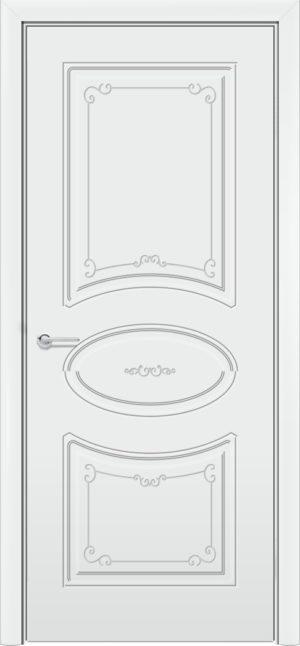 Межкомнатная дверь эмаль Б 12 белоснежная 3