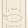 Межкомнатная дверь эмаль Б 11 бежевая патина серебро 1