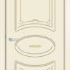 Межкомнатная дверь эмаль Б 9 белоснежная патина золото 1