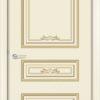 Межкомнатная дверь эмаль Б 4 белая патина золото 2