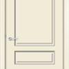 Межкомнатная дверь эмаль Б 14 белоснежная патина серебро 2
