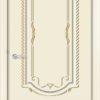 Межкомнатная дверь эмаль Б 14 белоснежная патина золото 1