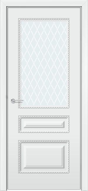 Межкомнатная дверь эмаль Б 2 белоснежная 4
