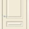 Межкомнатная дверь эмаль Б 15 белоснежная патина золото 1