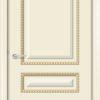 Межкомнатная дверь эмаль Б 6 белоснежная патина серебро 2