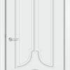 Межкомнатная дверь эмаль Б 19 белая патина серебро 2