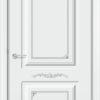 Межкомнатная дверь эмаль Б 13 белоснежная патина серебро 2