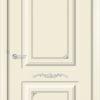 Эмалированная межкомнатная дверь Б 17 белоснежная патина серебро 1