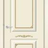Межкомнатная дверь эмаль Б 22 бежевая патина золото 1