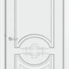 Межкомнатная дверь эмаль Б 13 бежевая патина серебро 1