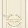 Межкомнатная дверь эмаль Б 25 белая патина серебро 2