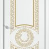 Межкомнатная дверь эмаль Б 3 бежевая патина золото 1