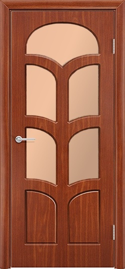 Межкомнатная дверь ПВХ Альфа итальянский орех 3