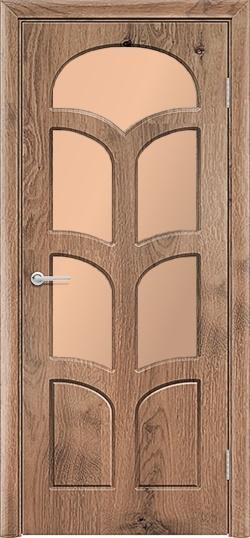 Межкомнатная дверь ПВХ Альфа светлый орех 3